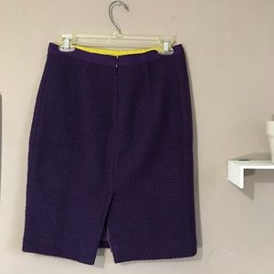 BODEN Tweed Skirt Size 4 Petite Purple Back Slit